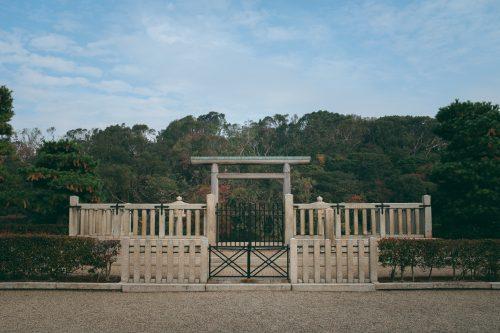 Kofun, immense sépulture impériale, à Sakai, Osaka, Kinki, Japon