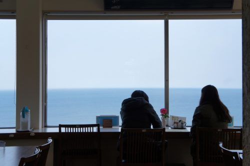 Vue depuis le restaurant du Phare de Mihonoseki, prefecture de Shimane, région du San'in, Japon