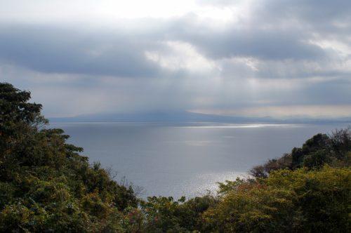 Vue sur la Mer du Japon depuis Mihonoseki, prefecture de Shimane, région du San'in, Japon
