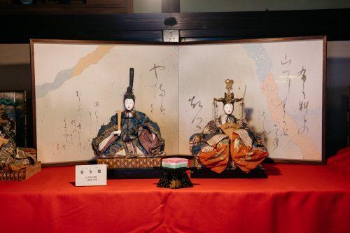 Poupées traditionnelles exposées dans la demeure de la famille Ishiguro à Kakunodate, Senboku, Akita, Japon