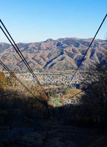 La vue depuis le funiculaire pour le Mt Hodo à Nagatoro, près de Chichibu dans la préfecture de Saitama, Japon