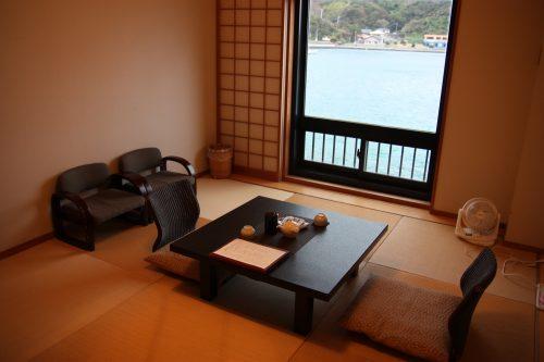 Chambre avec vue au complexe hôtelier Kasasa Ebisu à Minamisatsuma, préfecture de Kagoshima, Japon