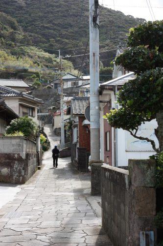 Les jolies ruelles du village de Bonotsu, à Minamisatsuma, Kagoshima, Japon