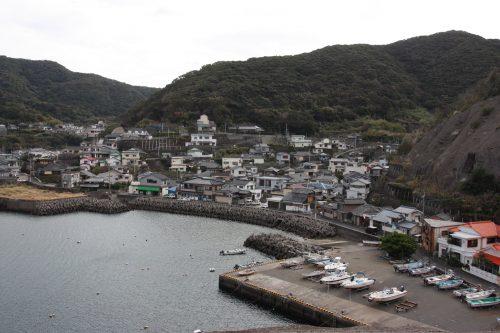Vue sur le port de Bonotsu, à Minamisatsuma, Kagoshima, Japon