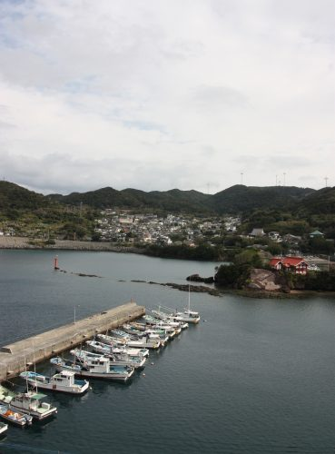 Le port de pêche de Bonotsu, à Minamisatsuma, Kagoshima, Japon