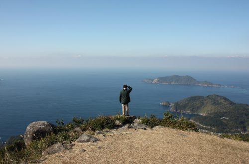 Panorama depuis le Mt Kamegaoka à Minamisatsuma, Kagoshima, Japon