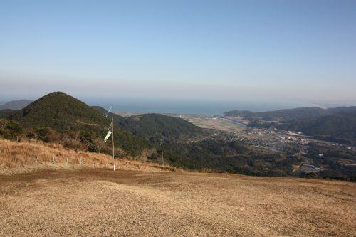 Piste de décollage en parapente au Mt Kamegaoka, Minamisatsuma, Kagoshima, Japon