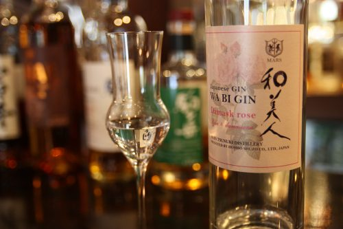 Dégustation de gin au bar de la distillerie Mars Tsunuki à Minamisatsuma, Kagoshima, Japon