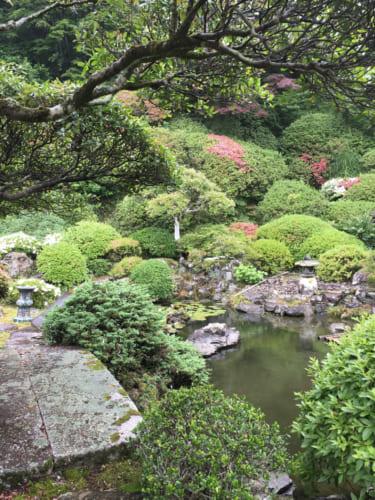 Jardin zen d'une résidence privée à Saiki, Oita, Kyushu