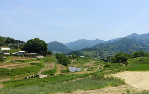 Paysage rural à Takachiho, Miyazaki, Kyushu