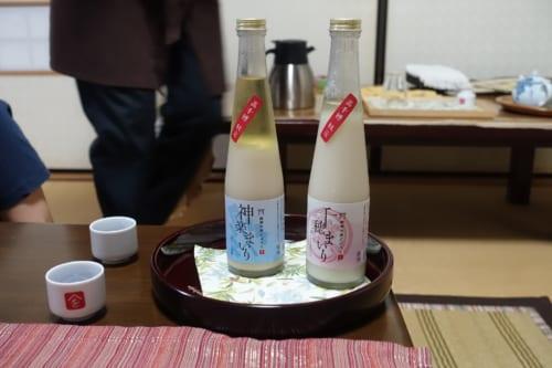 Amazake produit par les propriétaires du Minshuku Maroudo, à Takachiho, Miyazaki, Kyushu