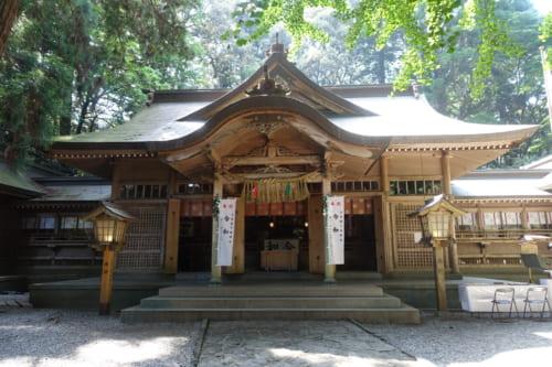 Le bâtiment principal du sanctuaire de Takachiho, Miyazaki, Kyushu