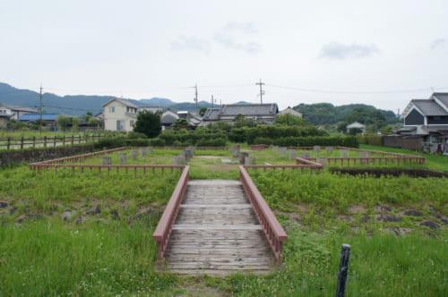 Site archéologique d'une horloge à eau datant de la période d'Asuka