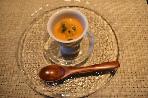 Plats d'inspiration italienne au menu du Ryokan Konomama - amuse-bouche