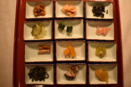 Tsukemono de légumes au Minshuku Yamanosato et Restaurant Farmer à Ubuyama