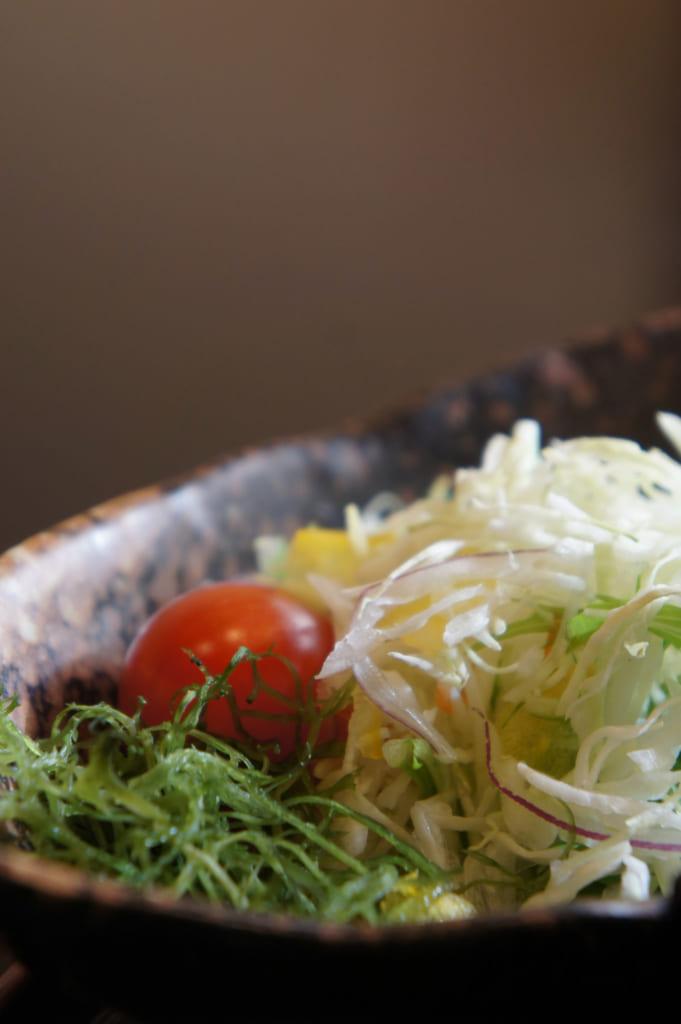 Petit déjeuner traditionnel : salade