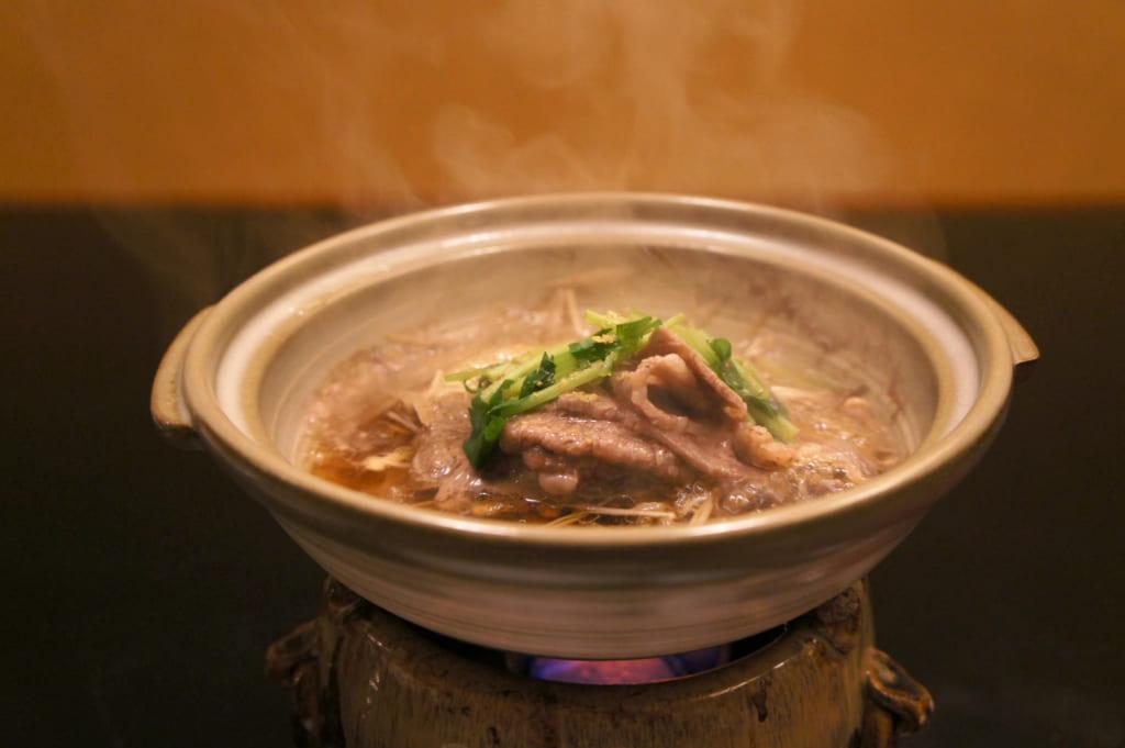 Dîner kaiseki : sukiyaki