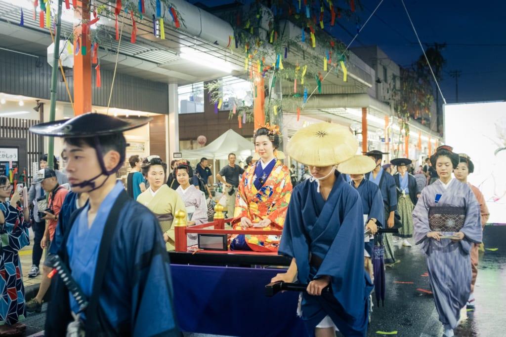 Défilé du festival de Tanabata de Yuzawa
