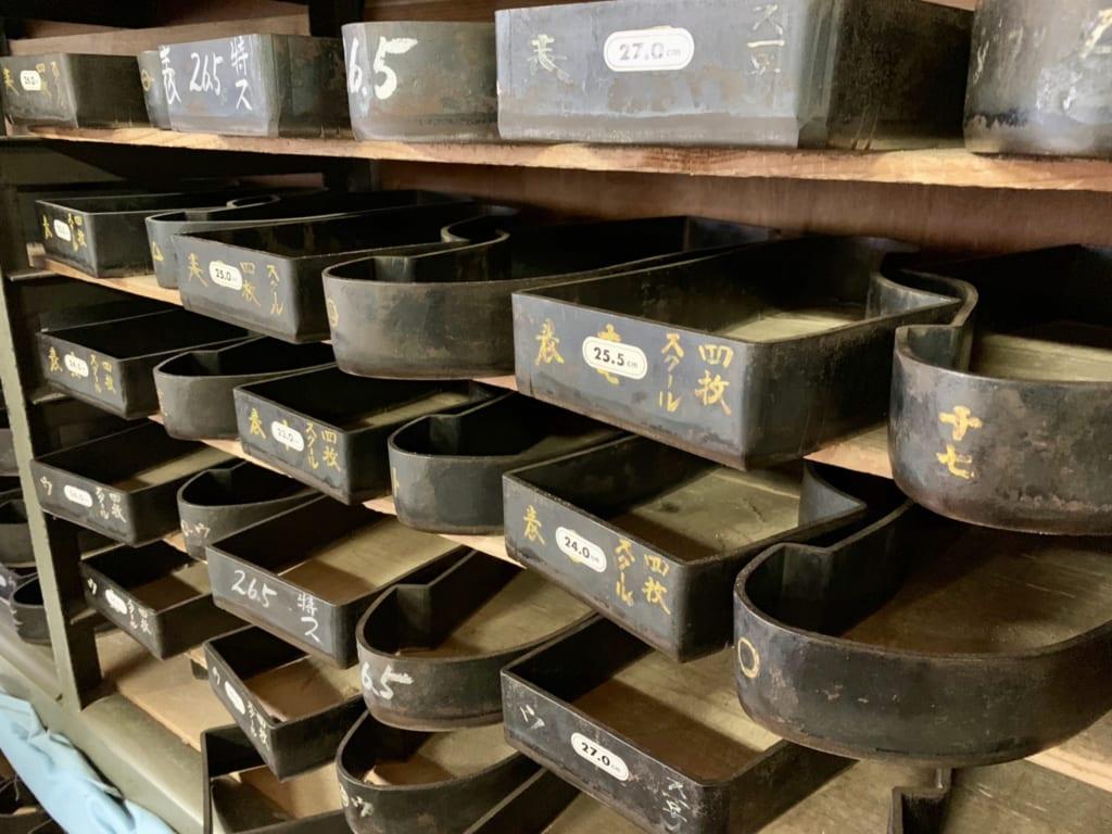 Vieil entrepôt de chaussettes tabi à Gyoda
