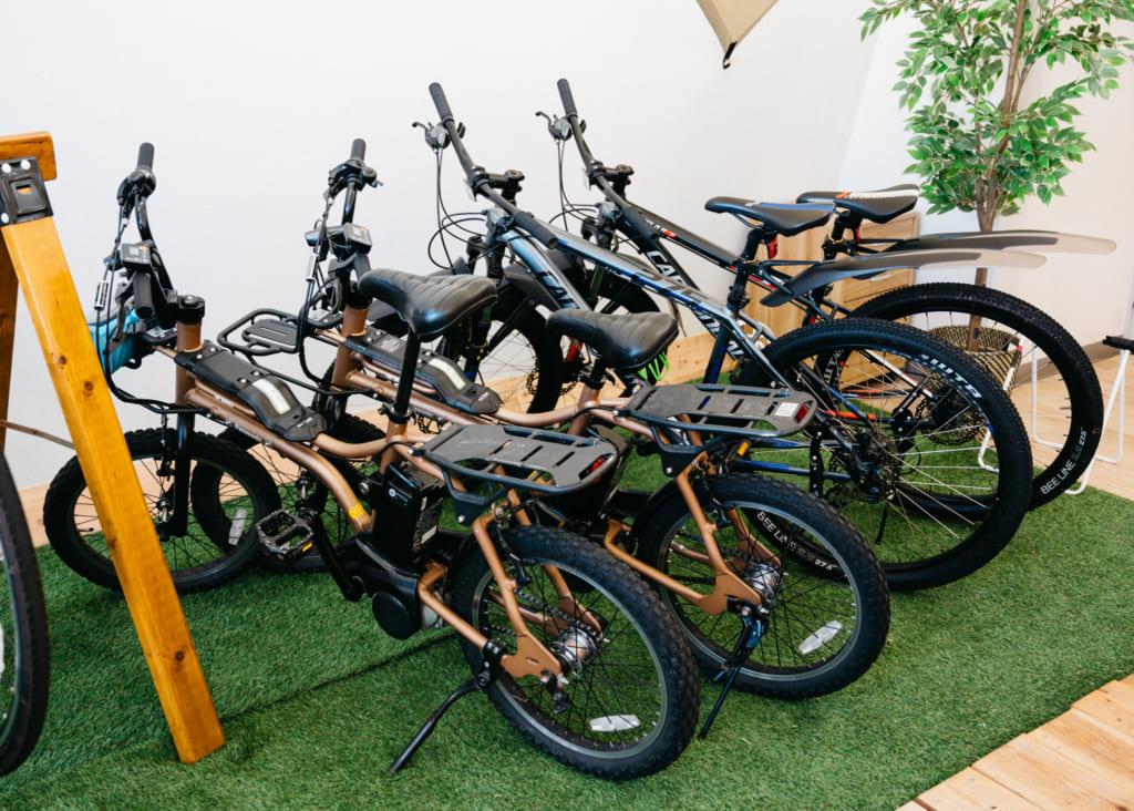 Vélos chez Aso Kujyu Cycle Tour