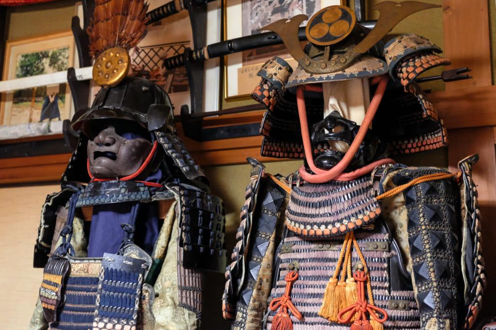 Les armures de samouraï de la collection personnelle de M. Matsunaga