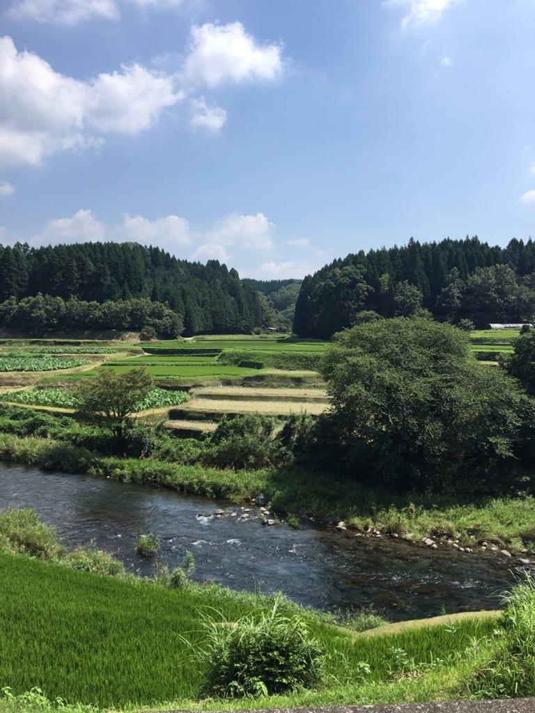 Les paysages de kikuchi, dans le nord de la préfecture de Kumamoto