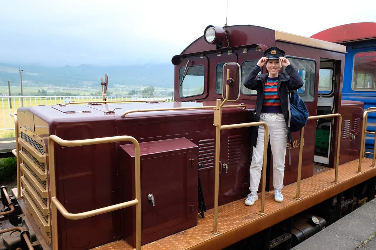 """A la Découverte de la Région du Mont Aso à bord du train """"Torokko"""""""