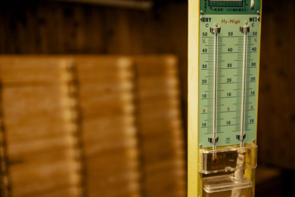 Thermomètre controlant la température lors de la production du koji