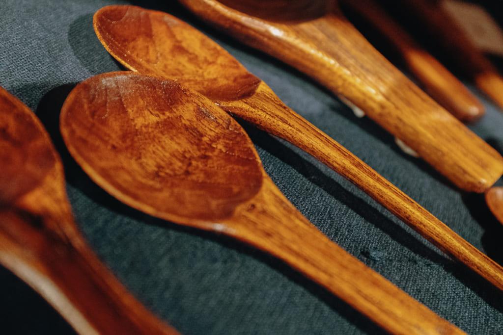 Cuillières en bois traditionnellles japonaises