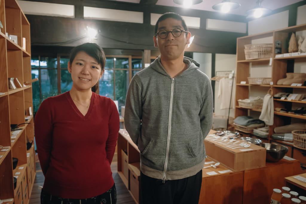 Les gérant de l'unagi no nedoko à Yame