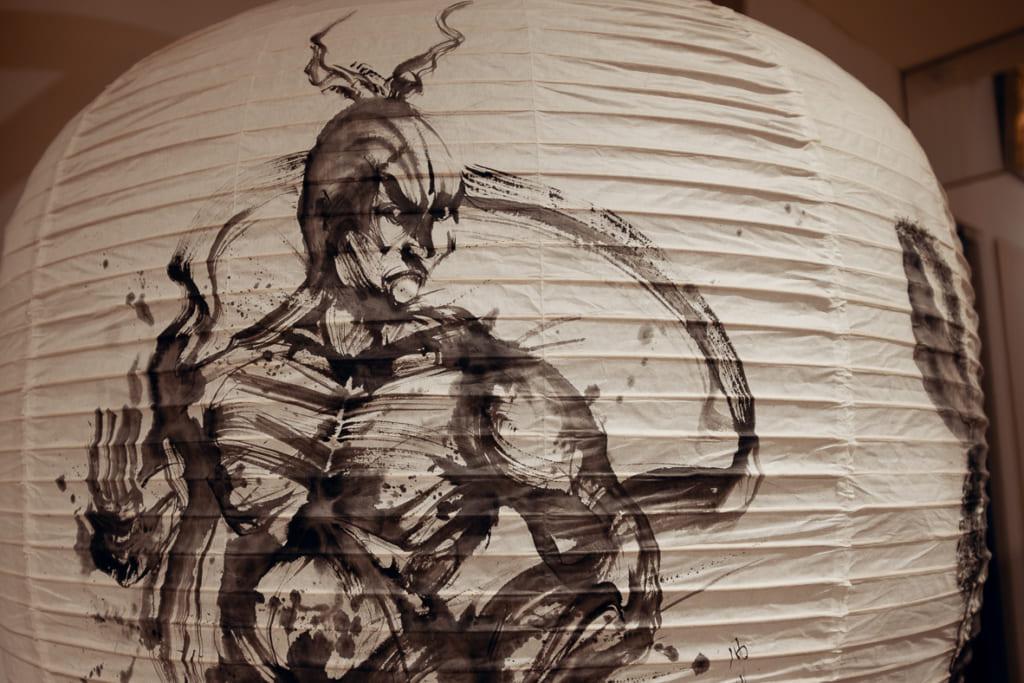lanterne en wagashi peinte à la main