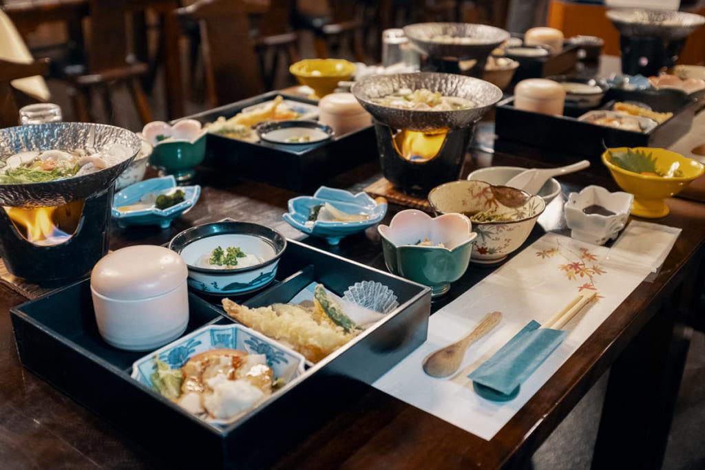 repas gastronomique du ryokan ikenoyamaso
