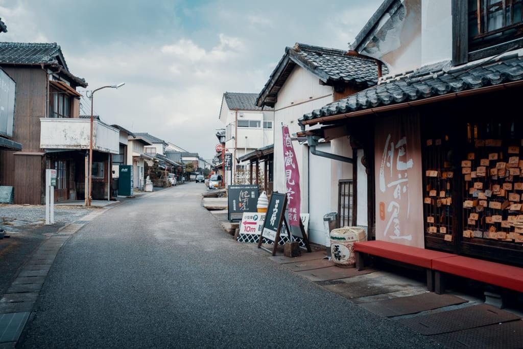 hizen hamashuku, vieux quartier de la préfecture de saga