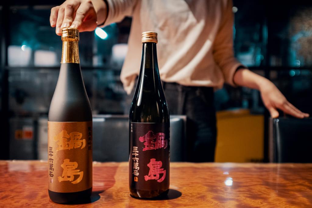 nabeshima, un célèbre saké produit par la brasserie fukushiyo dans la préfecture de saga