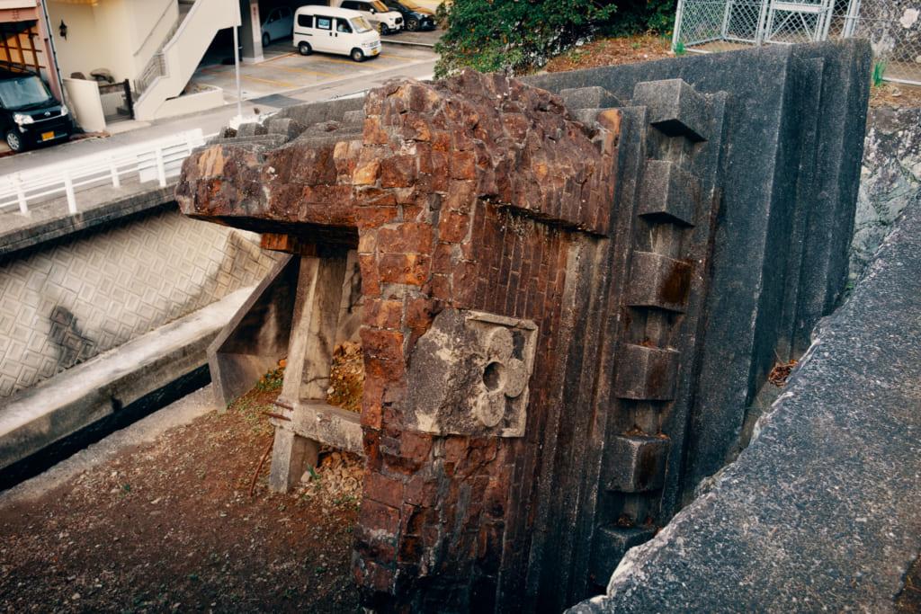 Vestiges du clocher de la cathédrale d'Urakami détruite par la bombe à Nagasaki