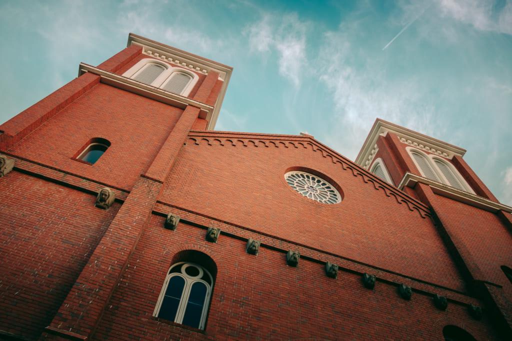 Façade de la cathédrale d'Urakami à Nagasaki