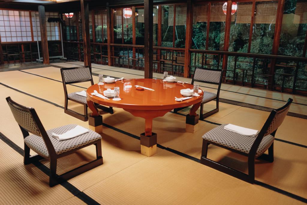 Une salle du restaurant Kagetsu
