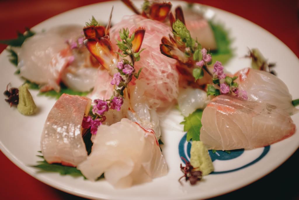 Sashimis de poisson