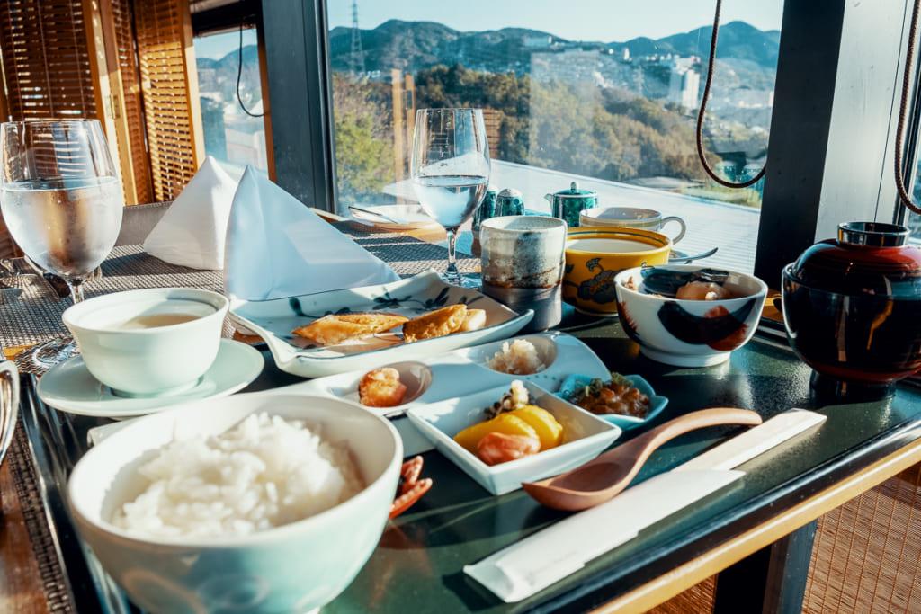 Petit déjeuner japonais au Garden Terrace