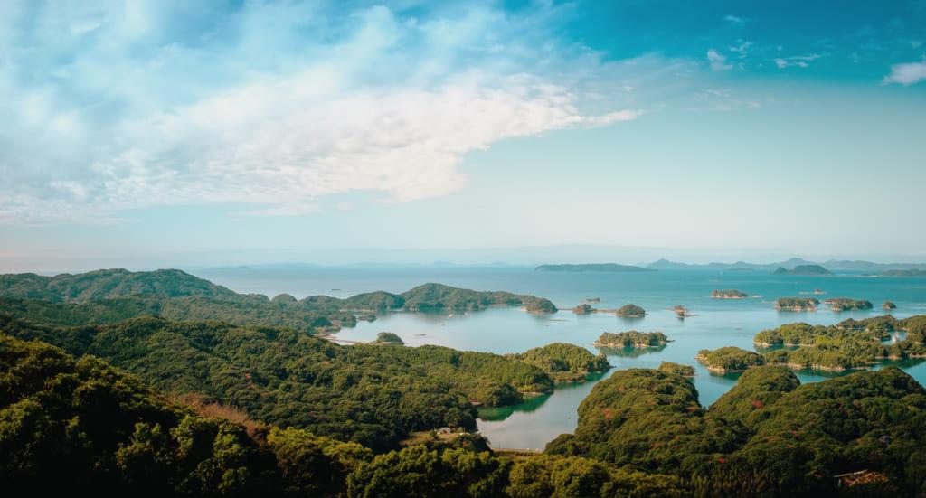 La baie de kujukushima à Nagasaki, lieu de tournage du film le dernier samourai