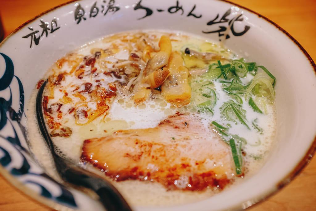 Les ramen aux fruits de mer du restaurant toride à Nagasaki