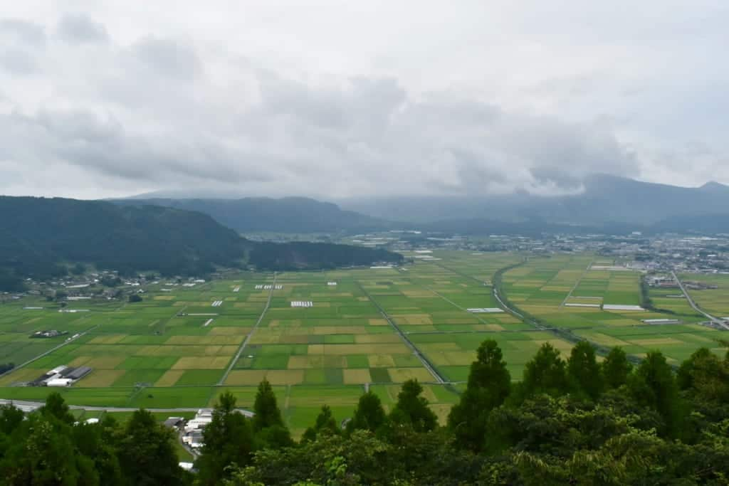Paysage des montagnes de Kumamoto depuis le monta Aso