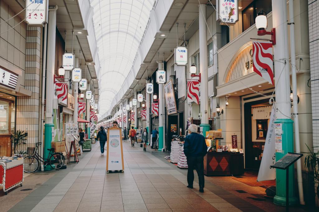 la rue couverte de Kawabata à Fukuoka