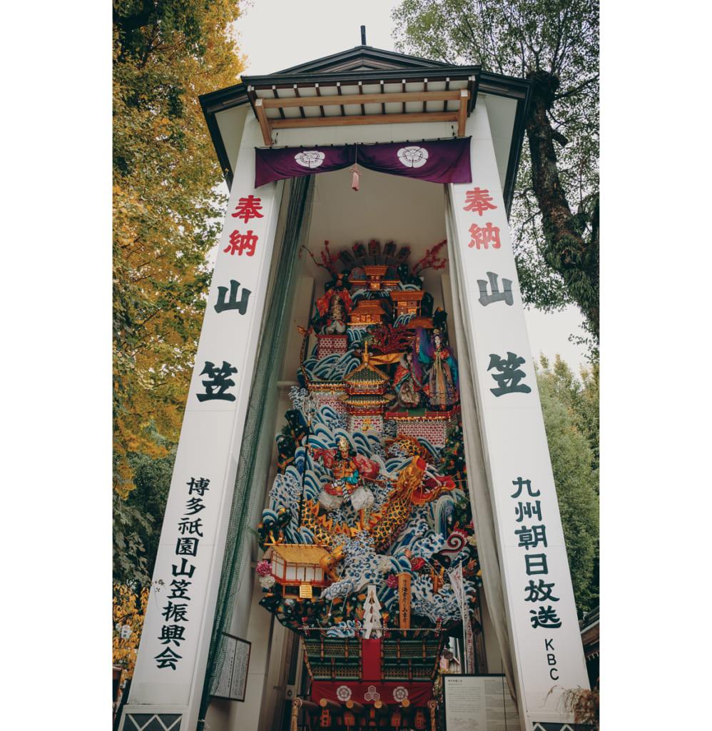 char de l'hakata Gio festival exposé à Fukuoka à proximité du sanctuaire Kushida