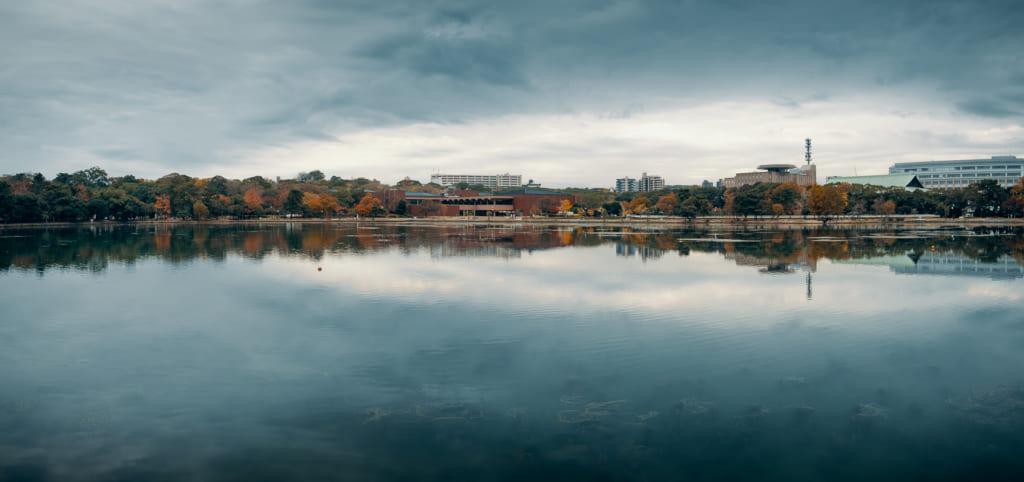 Le lac du parc Ohori, au centre de Fukuoka