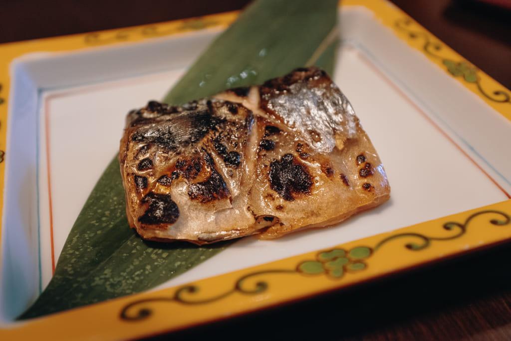 poisson grillé du petit déjeuner du ryokan nishi-tei
