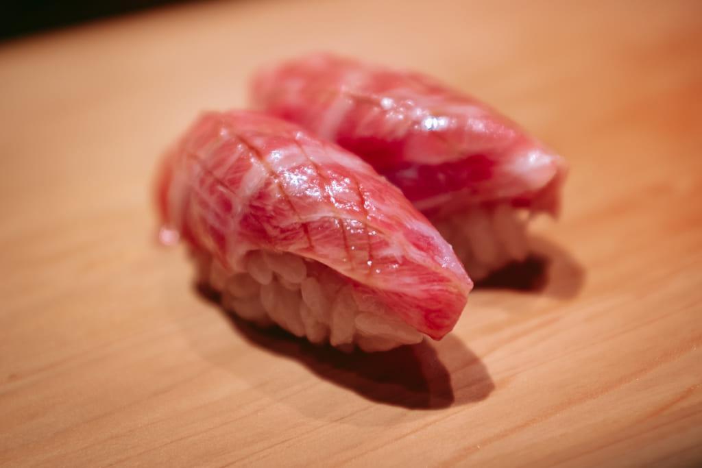Sushi au thon du restaurant Gyoten à Fukuoka