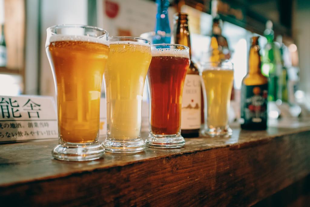 Les bières de la brasserie de Suginoya, difficiles à trouver en dehors de Fukuoka