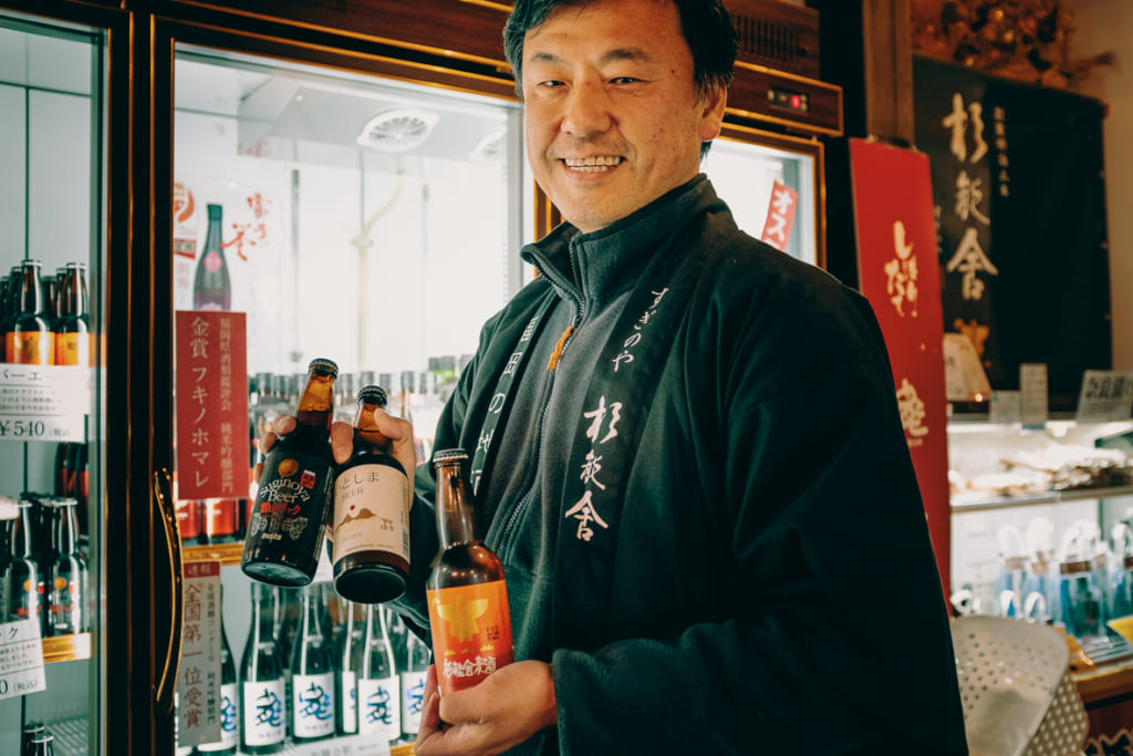 Le gérant de la brasserie Suginoya