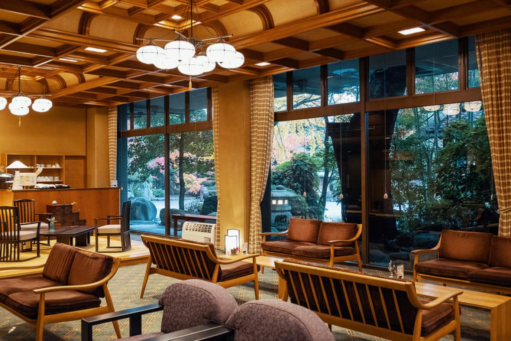 hall d'entrée du ryokan warakuen